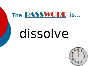 A Tree is Growing - Vocabulary Password