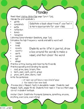 A Tree is a Plant Journeys Lesson Plans and Supplemental Materials