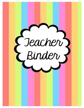 A Trendy Teacher Binder