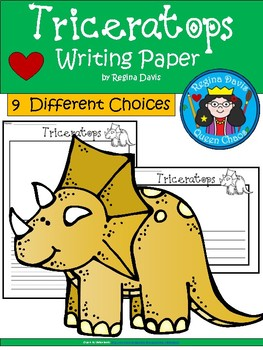 A+ Triceratops... Writing Paper
