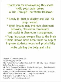 A Trip Through The Winter Holidays Yoga Brain Break