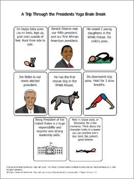 A Trip Through the United States Presidents Yoga Brain Break