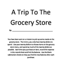 A Trip To The Grocery Store: Money, Subtraction with Regrouping