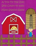 A Trip To The Zoo Skip Counting By 10's & 100's 2.NBT.2 Math Station