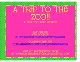 A Trip To The Zoo Word Search
