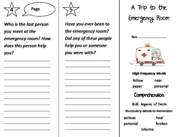 A Trip To the Emergency Room Trifold - Treasures 2nd Grade Unit 2 Week 3 (2009)