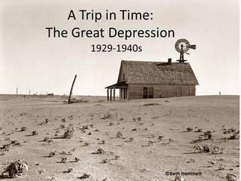 A Trip in Time: Journal Prompts for the Great Depression Era