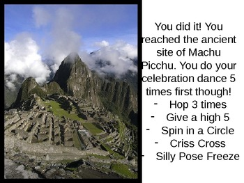A Trip on the Ancient Inca Trail: A Visual and Physical Exercise for Students