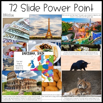 A Trip To Europe Power Point & Activities Pack!