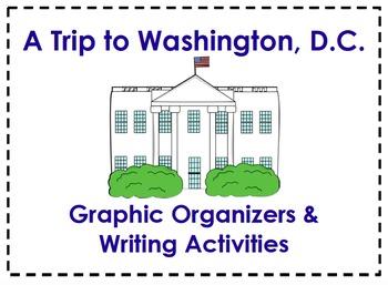 A Trip to Washington, D.C. Organizers & Writing Activities (Reading Street 4.3)