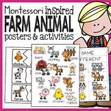 Preschool and Kindergarten Farm Animal Pack with Montessor