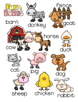 Preschool and Kindergarten Farm Animal Pack with Montessori Inspired Activities