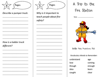 A Trip to the Fire Station Trifold - Storytown 2nd Grade Unit 2 Week 5