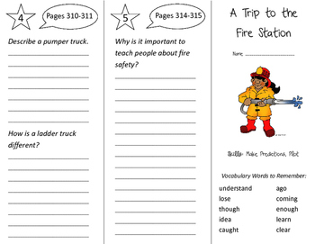 A Trip to the Fire Station Trifold - Storytown 2nd Grade U