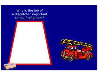 A Trip to the Fire Station comprehension file SmartBoard