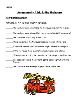 A Trip to the Firehouse Assessment