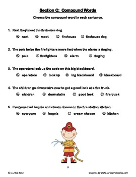 A Trip to the Firehouse ~ Weekly Theme Skills Test