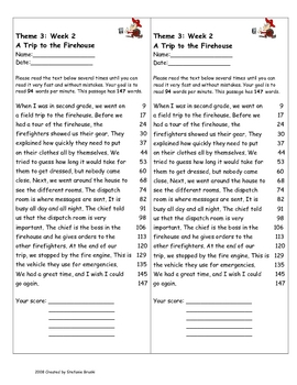 A Trip to the Firehouse by Wendy Lewison:Fluency Words & Story