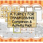 """""""A Turkey For Thanksgiving"""" Eve Bunting Companion Pack comprehension sequencing"""