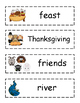 A Turkey For Thanksgiving Vocabulary Cards + Sorting Activity