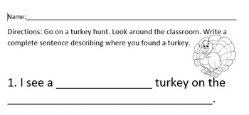 A Turkey Hunt with Prepositions