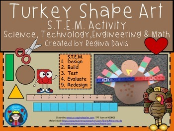 A+ STEM Turkey Shape...Science, Technology, Engineering & Math