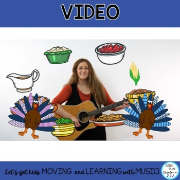 "Thanksgiving Song ""I've Got the Turkey Blues"" for Guitar and Musical Program"