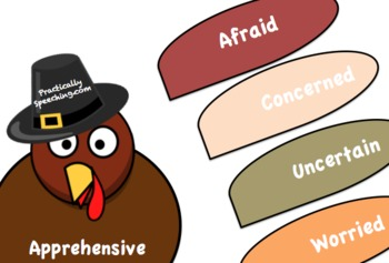 A Turkey-Themed Persuasive Language Synonyms Activity