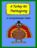 A Turkey for Thanksgiving  --  A Comprehension Check