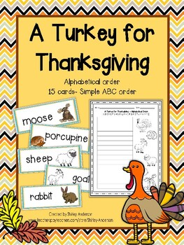 A Turkey for Thanksgiving ABC Order