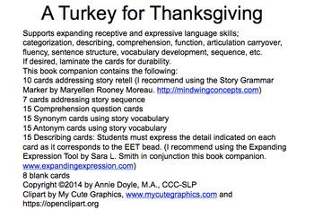 A Turkey for Thanksgiving Book Companion