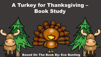 A Turkey for Thanksgiving - Book Study