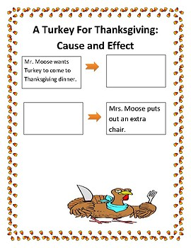 A Turkey for Thanksgiving Cause and Effect Lesson Plan