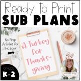 A Turkey for Thanksgiving Emergency Lesson Plans