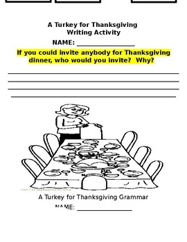 A Turkey for Thanksgiving Literature Packet