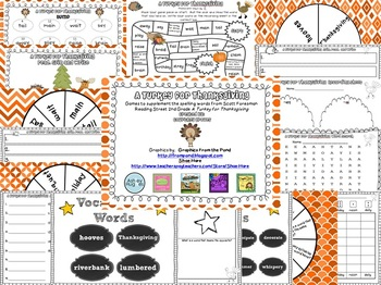A Turkey for Thanksgiving Spelling and Vocabulary Games