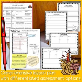 A Turkey for Thanksgiving by Eve Bunting Read Aloud Summarizing Lesson Plan