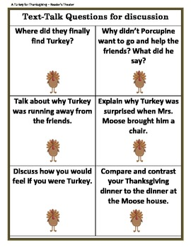 A Turkey for Thanksgiving by Eve Bunting - Reader's Theater Text Talk