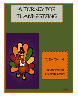A Turkey for Thanksgiving by Eve Bunting novel study