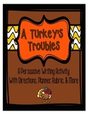 A Turkey's Troubles: A Persuasive Thanksgiving Writing Activity