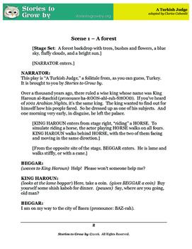 "Reader's Theater Script for ""A Turkish Judge"" Folk Tale"