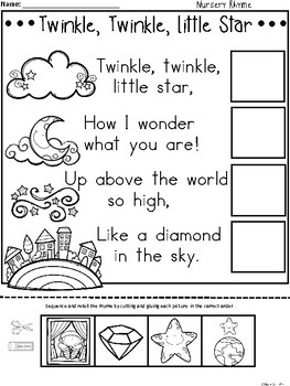 A+ Twinkle, Twinkle, Little Star Sequencing