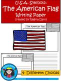 A+ U.S.A. Symbols: American Flag Writing Paper
