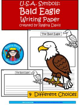 A+ U.S.A. Symbols: Bald Eagle Writing Paper