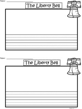 A+ U.S.A. Symbols: Liberty Bell Differentiated Writing Paper