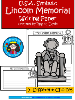 A+ U.S.A. Symbols: Lincoln Memorial Writing Paper