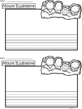 A+ U.S.A. Symbols: Mount Rushmore Writing Paper