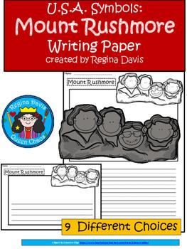 A+ U.S.A. Symbols: Mount Rushmore Writing Paper