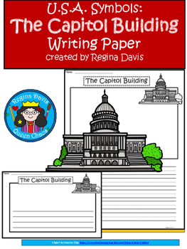 A+ U.S.A. Symbols: The Capitol Building Differentiated Writing Paper