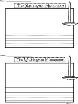 A+ U.S.A. Symbols: The Washington Monument Differentiated Writing Paper